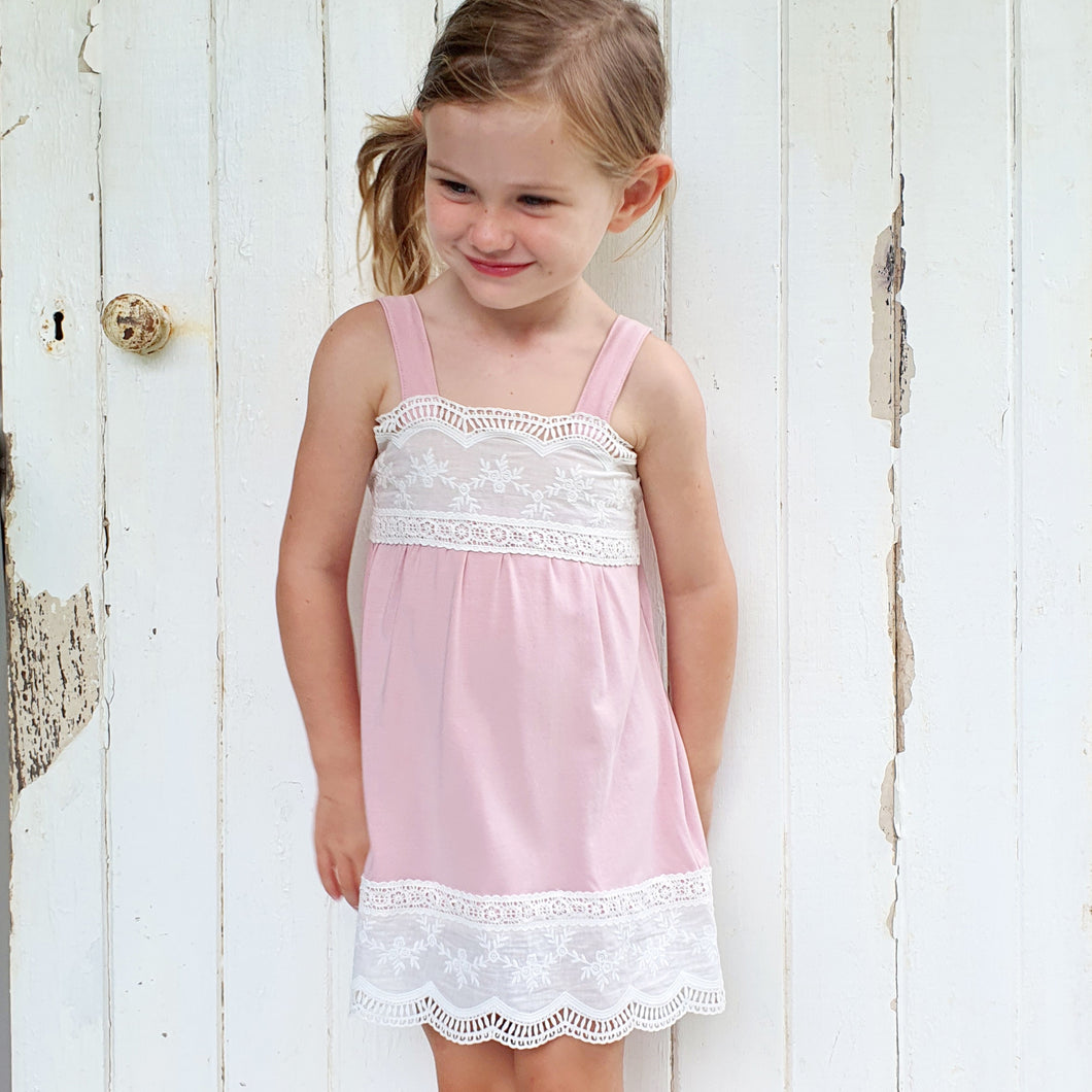 Cotton Dress - Baby Pink