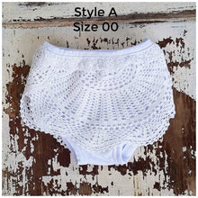 White Vintage Crochet Bloomers