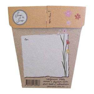 Sow n Sow Wildflowers Gift of Seeds