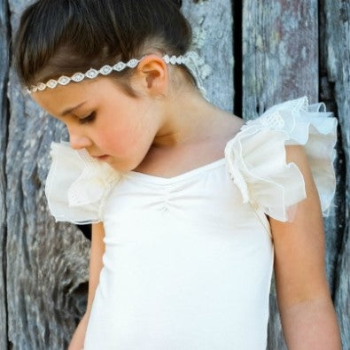 Ivory Lace and Tulle Ballerina Top
