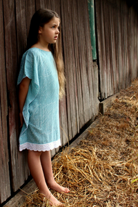 Turquoise Batik Kaftan - Girls Dress - Summer Dress