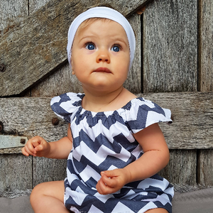 Chevron Grey Cotton Dress