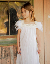 Flowergirl Feather Dress - Snow