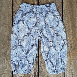 Blue Boho Pants. Summer Pants. Cotton Rayon