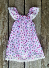 Summer Dress - Lace and Flowers Pink