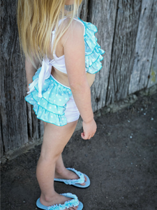 Turquoise Ruffle Bloomers