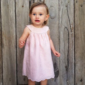 Dusty Pink Embroidered Dress