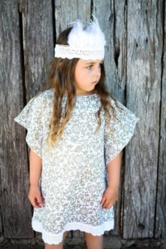Olive Vines Batik Kaftan - Girls Dress - Summer Dress
