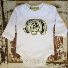 Appliqued Bodysuit - Ethan the Elephant