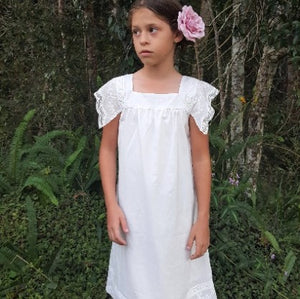 Ivory Lace Cotton Dress