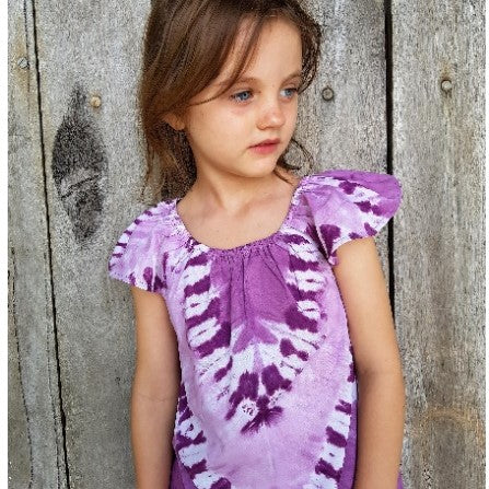 Purple Tie Dye Cotton Dress