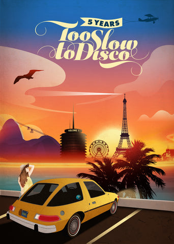 5 Years of Too Slow to Disco Art Print Limited Edition