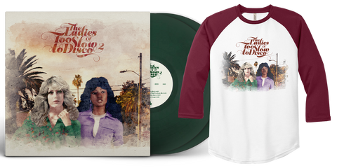 (Pre-Order) The Ladies Of Too Slow To Disco 2 LTD Dark Green 2xLP + Baseball Shirt Bundle