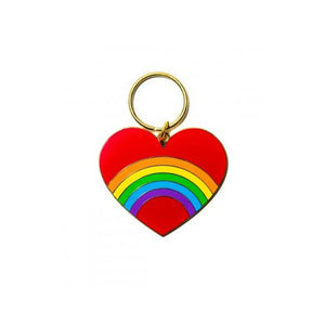 A&W Rainbow Heart Key Ring