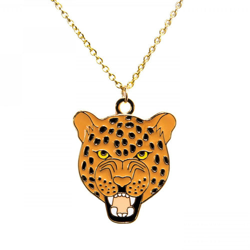 A&W Roaring Leopard Necklace