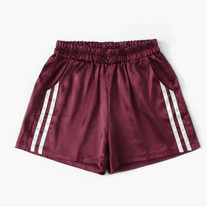 Bordeau Women's Shorts with white stripe