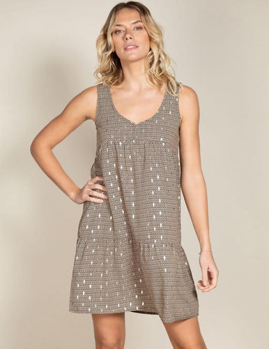 DEELUXE BRENIL GEO FOIL DRESS