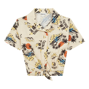 HP HAWAII TIE UP SHIRT MASTIC