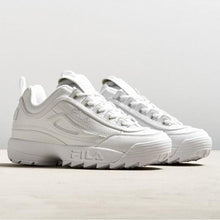Load image into Gallery viewer, white fila disruptor II premium