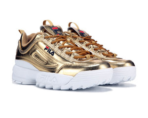 Gold FILA Disruptor II Premium Shoes