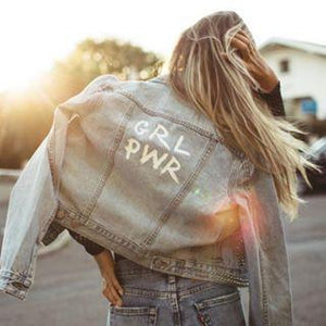 Girl Power Jeans Jacket