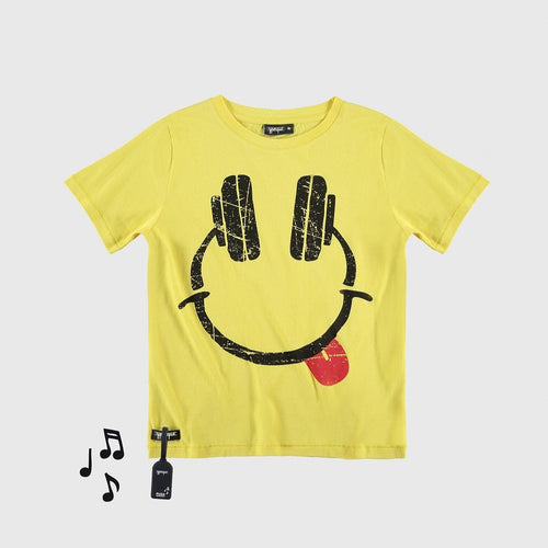 YPORQUE YELLOW HEADPHONES TEE