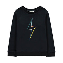 Load image into Gallery viewer, hundred pieces sweater featuring a colored flash print