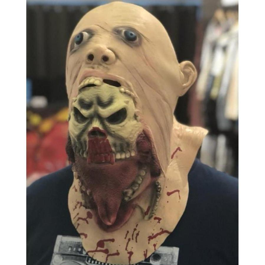 HALLOWEEN 2HEADS MASK