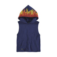 Load image into Gallery viewer, YPORQUE FLAMES VEST HOODIE