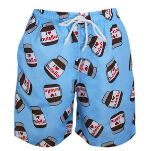 Boys Swim Short with Nutella print all over
