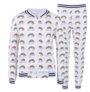 L&B SMILEY RAINBOW JOGGER SET
