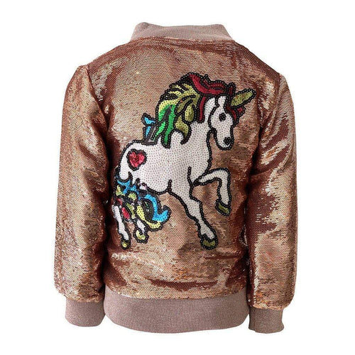 L&B ROSE SEQUIN UNICORN BOMBER