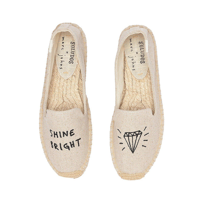Embroidered Soludos women smoking slippers
