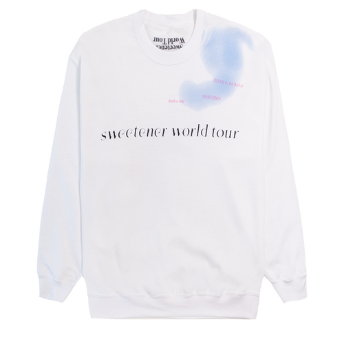 ARIANA GRANDE SWEETNER WORLD TOUR TRACKLIST CREWNECK