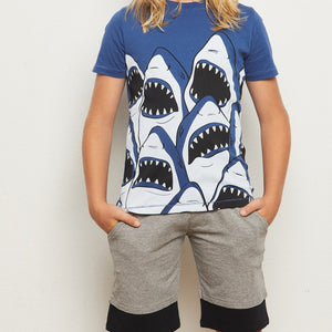 YPORQUE SHARK LAYERED SHORT