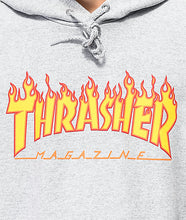 Load image into Gallery viewer, THRASHER FLAME HOODIE GREY