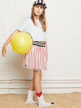 Load image into Gallery viewer, YPORQUE TULLE RED STRIPES SKIRT