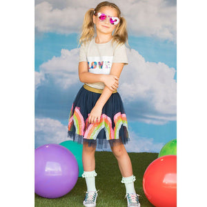 L&B RAINBOW SEQUIN TUTU SKIRT
