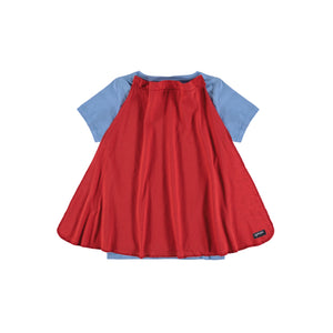 Shirt with Red cape on the back