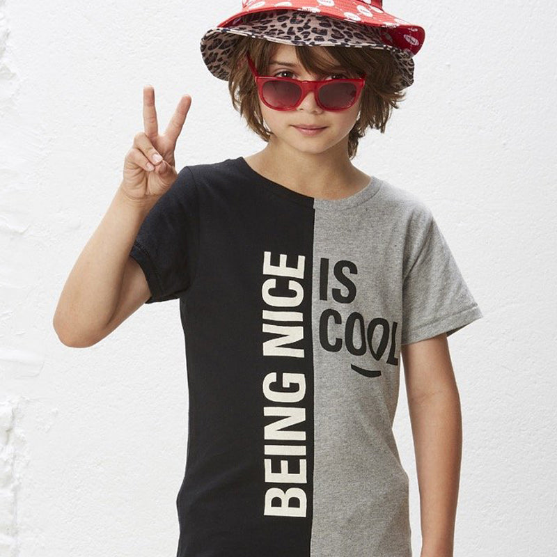 boys shirt with black and grey graphic