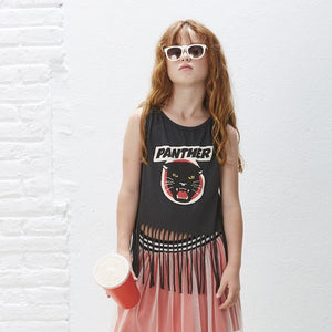 YPORQUE PANTHER FRINGED TOP