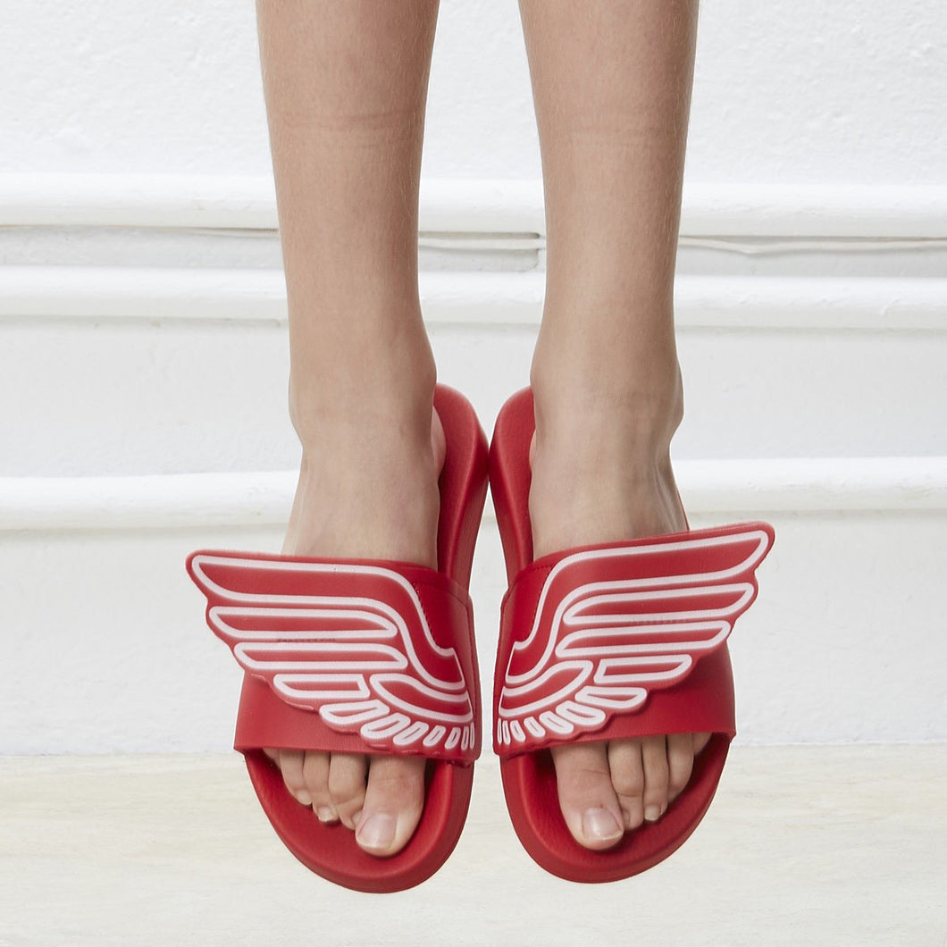 Red Flip-flops with rubber wings