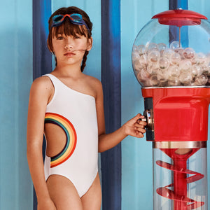 Yporque swimsuit with rainbow cut out