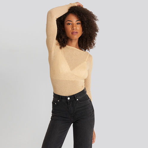 NAKD BOAT NECK LS TOP