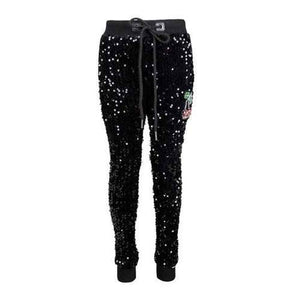 L&B CHERRY SEQUIN JOGGERS