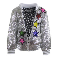 Load image into Gallery viewer, L&B UNICORN SEQUIN BOMBER