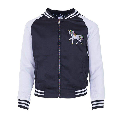 L&B MIDNIGHT DREAM SATIN UNICORN BOMBER