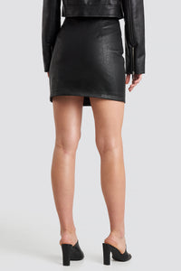 NAKD PU ZIPPER SKIRT
