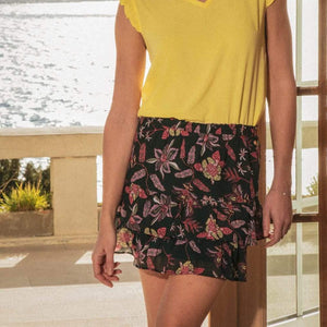 DEELUXE ORANE TROPICAL PRINT SKIRT
