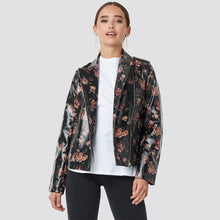 Load image into Gallery viewer, NAKD ROSE PRINTED PU SHORT JACKET